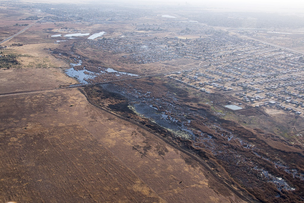 Aerial photos reveal extent of sewage crisis in North-West
