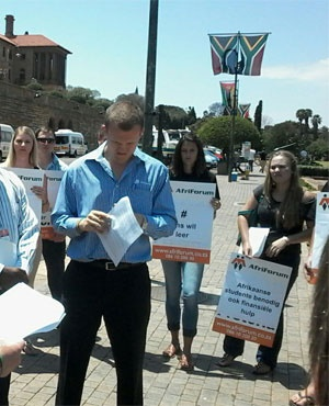 Protect non-protesting students – AfriForum Youth