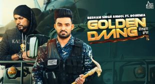 Golden Daang by Resham Singh Anmol is Out on LyricsBELL.com