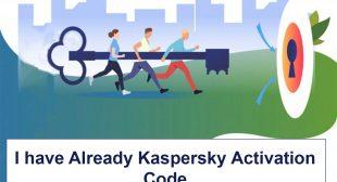 I have already kaspersky activation code