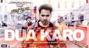 Dua Karo Lyrics in hindi | Street Dancer 3D | Arijit Singh, Bohemia, Sachin- Jigar