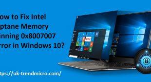 How to Fix Intel Optane Memory Pinning 0x8007007 Error in Windows 10? – TrendMicro