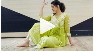 WATCH : KRITI SANON FLAUNTS HER GRACEFUL MOVES AS SHE DANCES ON KAJRARE