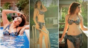 SHRADDHA DAS TAKES A DIP IN THE POOL, LEAVES INTERNET BREATHLESS WITH HER BIKINI AVATAR