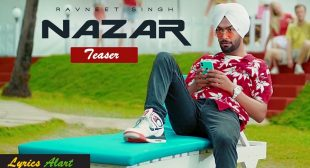 Nazar Song Lyrics in Punjabi| Nazar lyrics Ravneet Singh