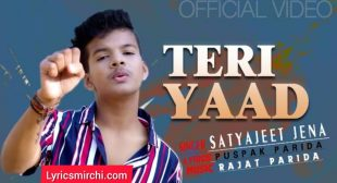 Teri Yaad Lyrics | Satyajeet Jena | New Hindi Song 2021