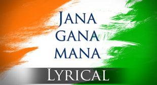 jan gan man lyrics – National anthem Lyrics